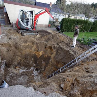Der Bau unseres Wintergartens…