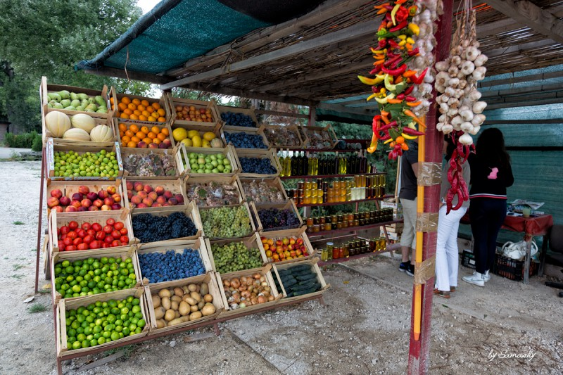 Obststand in Kroatien